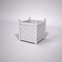 French Lattice Premier PVC Planter 48in.L x 48in.W x 48in.H