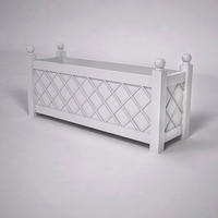 French Lattice Premier PVC Planter 60in.L x 18in.W x 24in.H
