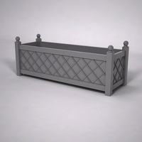 French Lattice Premier PVC Planter 72in.L x 24in.W x 24in.H