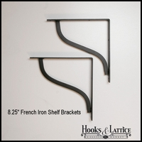 "French Shelf Bracket  8 1/4"" Shelf - (Pair)"