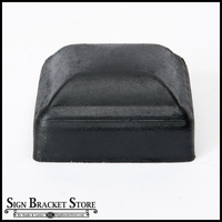 "Galvanized thin wall post cap for 3""x3"" square post - Black"
