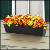 Galvanized Window Boxes- Black Metal
