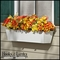 Galvanized Window Boxes- White Metal