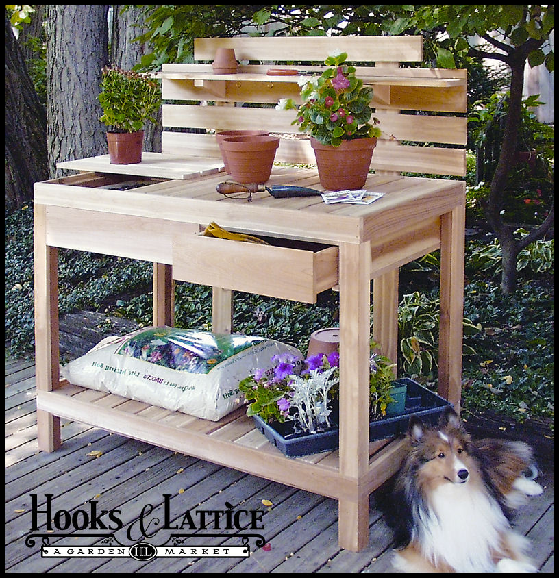 Garden Planting Tables Potting Benches Amp Raised Bed Gardens