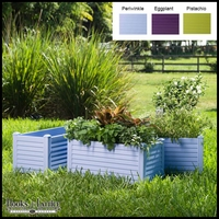 Niguel 34in. Rectangular Planter in Periwinkle