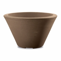 Glendon 12in. Tapered Round Planter - Mocha