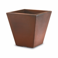 Glendon 16in. Tapered Square Planter - Rust