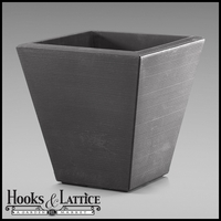 Glendon 20in. Tapered Square Planter - Antique Bronze