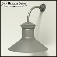 "Gooseneck Light Aluminum -10"" x 3/4"" Dia. Arm with 18"" Barn Light Shade"
