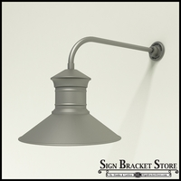 "Gooseneck Light Aluminum - 23"" x 3/4"" Dia. Arm with 18"" Barn Light Shade"