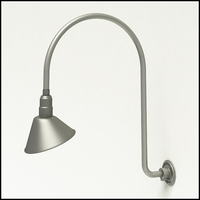 "Gooseneck Light Aluminum - 25.25"" W x 39"" H, Arm - with 10in. Angle Shade"