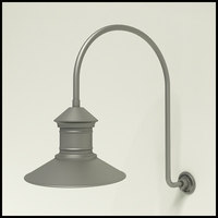 "Gooseneck Light Aluminum - 25.25"" x 3/4"" Dia. Arm with 16"" Barn Light Shade"