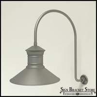 "Gooseneck Light Aluminum - 25.25"" x 3/4"" Dia. Arm with 18"" Barn Light Shade"
