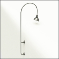 "Gooseneck Light Aluminum - 26"" W x 87.125"" H, Arm - with 10in. Angle Shade"