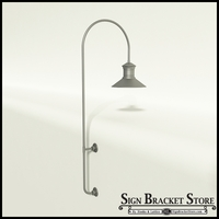 "Gooseneck Light Aluminum - 27.25"" x 3/4"" Dia. Arm with 18"" Barn Light Shade"