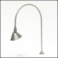 "Gooseneck Light Aluminum - 29"" W x 40.25"" H, Arm - with 10in. Angle Shade"
