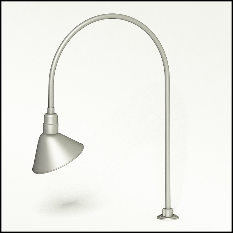 gooseneck light aluminum 27 5 w x h arm with 12in ang