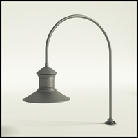 "Gooseneck Light Aluminum - 27.5"" x 3/4"" Dia. Arm with 16"" Barn Light Shade"