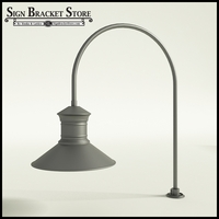 "Gooseneck Light Aluminum -27.5"" x 3/4"" Dia. Arm with 18"" Barn Light Shade"