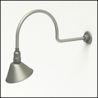 "Gooseneck Light Aluminum - 29.75"" W x 12"" H, Arm - with 10in. Angle Shade"