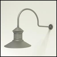 "Gooseneck Light Aluminum - 29.75"" x 3/4"" Dia. Arm with 16"" Barn Light Shade"