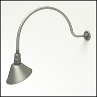 "Gooseneck Light Aluminum- 34""L x 3/4""Dia. Arm with 10"" Angle Shade"
