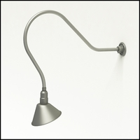 "Gooseneck Light Aluminum - 38"" W, Arm - with 10in. Angle Shade"