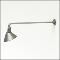 "Gooseneck Light Aluminum - 37.5"" W, Arm - with 10in. Angle Shade"
