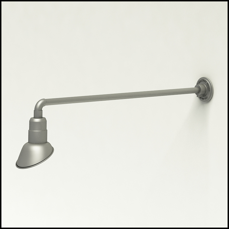 gooseneck light aluminum 37 5 w arm with 7in angle shade
