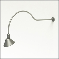 "Gooseneck Light Aluminum - 54.25"" W x 18"" H, Arm - with 10in. Angle Shade"