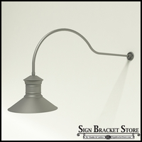 "Gooseneck Light Aluminum - 54.25"" x 3/4"" Dia. Arm with 18"" Barn Light Shade"