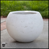 Halley Weathered Stone Sphere Planter 48in. Dia. x 37in. H