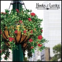 Hanging Baskets with Artificial Flowers