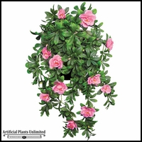 34in. Hanging Pink Azalea Vine, Indoor Artificial
