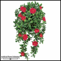 34in. Hanging Red Azalea Vine, Indoor Artificial