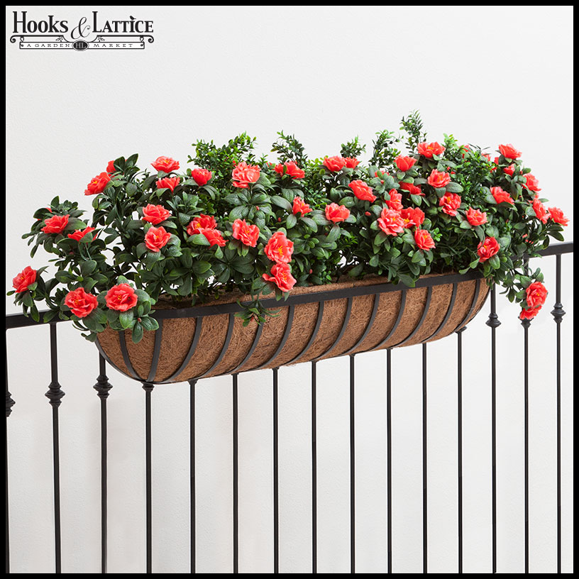 Hay rack window boxes hayrack planters hooks lattice - Planters to hang on railing ...