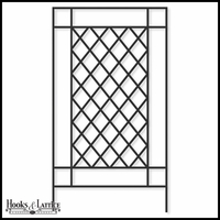Highwood Framed Lattice Trellis - 48in.W x 88in.H