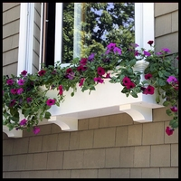 How to Attach Faux Brackets to Window Boxes