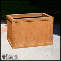 Hughes Riveted Fiberglass Rectangular Planter