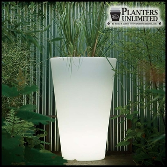 Illuminated Round Tapered Planters