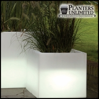 Illuminated Square Planters