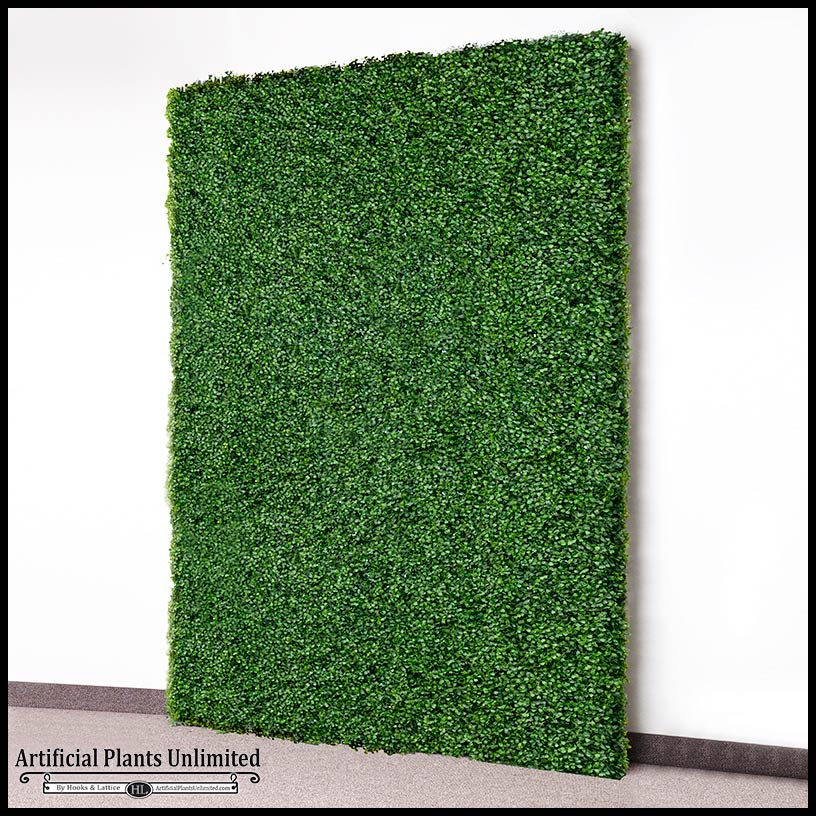 Green Wall Panel Of Fake Boxwood Hedge Artificial Plants