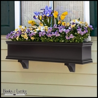 Laguna Black Premier Direct Mount Flower Box