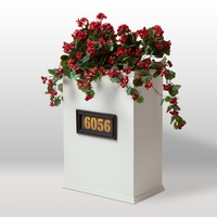 Laguna Tall Rectangular Fiberglass Address Planter