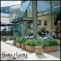 Rectangular Planters with Leaf Pattern