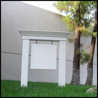 Large Colonial Post & Panel Sign System