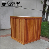 Large Commercial Redwood Planters