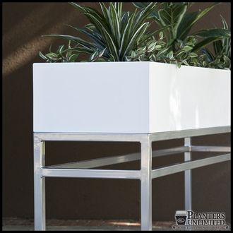 Large Office Planters with Metal Plant Stands
