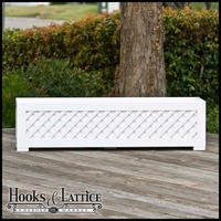 "Lattice Premier Deck Planter w/ Feet 24""x12""x12"""