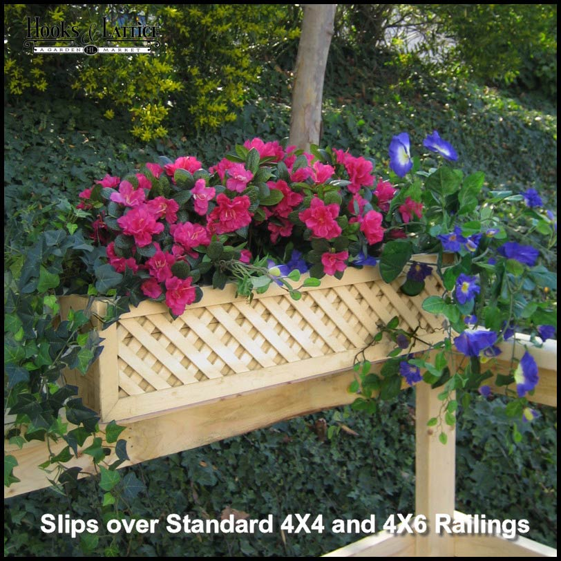1000 Images About Garden Containers Deck Railing On: Lattice Rail Flower Box Is A Superb Addition To Decks